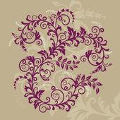 Belo ornamento floral vermelho — Vetorial Stock