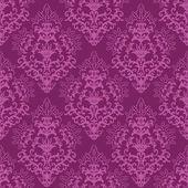 Seamless fuchsia purple floral wallpaper — Stock Vector