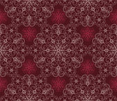 Detailed maroon floral pattern — Stock Vector
