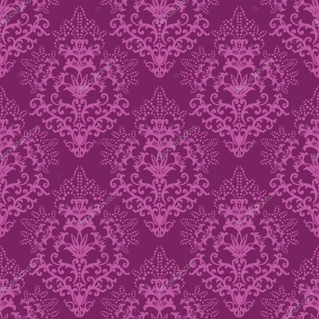 Papel pintado floral morado fucsia transparente vector - Papel pintado morado ...
