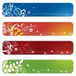 Stock Vector: Four floral banners or bookmarks