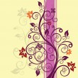 Purple and pink floral vector illustration — Stock Vector #4554898