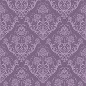 Seamless purple floral wallpaper — ストックベクタ