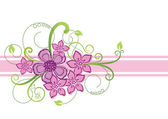 Floral border design — Vector de stock