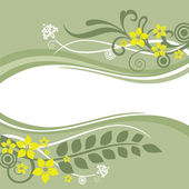 Green and yellow floral borders — Stock Vector