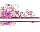 Pink floral banner with space for text — 图库矢量图片