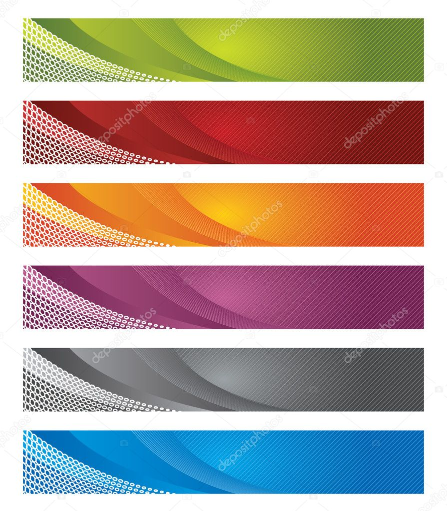Digital banners in gradient and lines. This image is a vector illustration.  Stock Vector #4551526