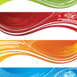 Royalty-Free Stock Vector Image: Set of colourful technical banners