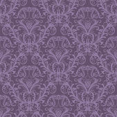 Seamless purple floral wallpaper — Vector de stock