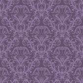 Seamless purple floral wallpaper — Stock Vector