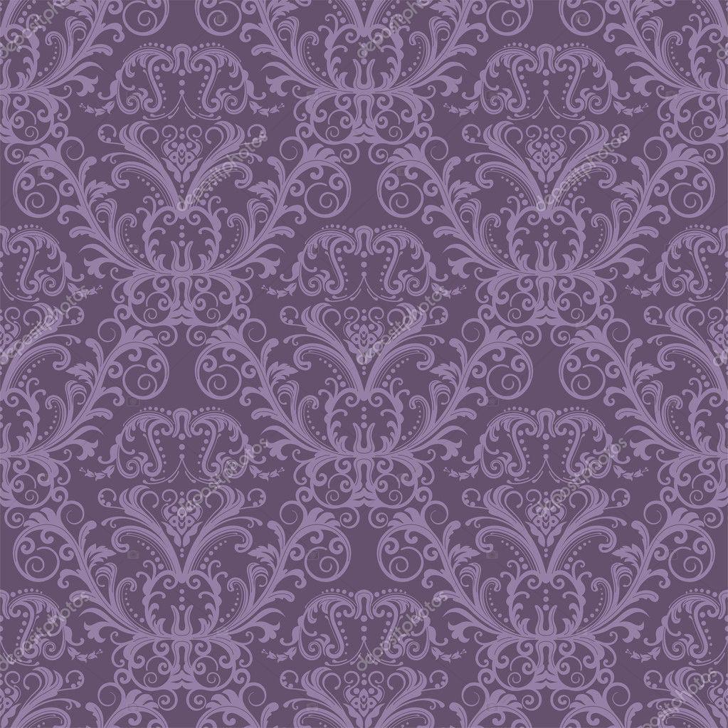papel tapiz floral púrpura transparente — Vector stock © lina_s #