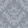 Luxury silver floral vintage wallpaper — Stock Vector