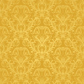 Luxury seamless golden floral wallpaper — ストックベクタ