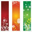 Three floral banners or bookmarks — Stock Vector #4851775