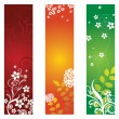 Three floral banners or bookmarks — Stock Vector