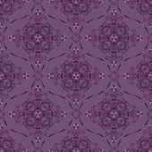 Seamless purple luxury floral pattern. — Stock Vector