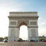 Постер, плакат: Triumphal arch with street Napoleon Bonaparte at Paris France