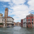 Venice 's Grand Canal with Cloud and sky — Stock Photo