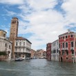 Stock Photo: Venice 's Grand Canal with Cloud and sky