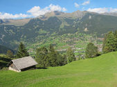 Alone Hut at Jungefrau above Grindelwald, Switzerland — Stock Photo