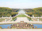 Decorative gardens with Park , spring , tree at Versailles in Fr — Stock Photo