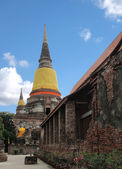 Wat Yai Chai Mongkol temple , Ayuttaya Thailand — Stock Photo
