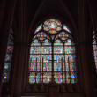 Stock Photo: Cross and stained window