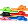 Royalty-Free Stock Photo: Side view of flip flops mix colour