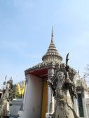 Double stone Giant Guard at Wat Pho Bangkok Thailand — Stock Photo