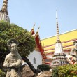 The double stone statue dreamy at Wat Pho — Stock Photo