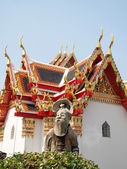 The stone statue dreamy at Wat Pho, Bangkok - Thailand — Stock Photo
