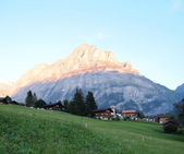 Village view at Jungfrau in Switzerland — Stock Photo