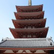 Five storied Pagoda of Senso-ji temple — Stock Photo