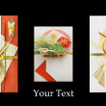 Three Japanese festive envelopes — Stock Photo
