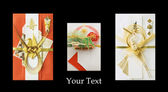Three Japanese festive envelopes — Stock Photo