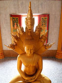 Statue of Buddha in Wat Chalong Temple — Stock Photo
