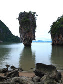The island Ko Tapu or Khao Tapu in Thailand — Stock Photo