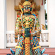 Green Demon VessavanStatue Thailand — Stockfoto #5196037