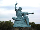 The Peace memorial Statue in Nagasaki , Japan — Stock Photo