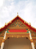 The Roof Gable at Temple for Buddhist in thailand — Stock Photo