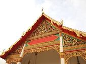 The Roof Gable Temple for Buddhist in thailand — Stock Photo