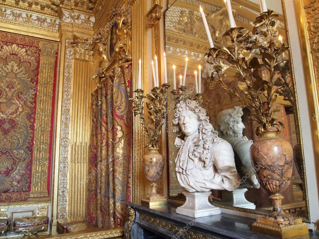 Downloaden - Een slaapkamer in het kasteel van versailles, Frankrijk ...