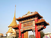 The Ceremonial gate at Chinatown Thailand — Stock Photo