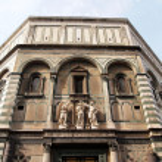 Building at The Facade of Cathedral Santa Maria del Fiore — Stock Photo