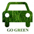 Go green concept — Stock Photo