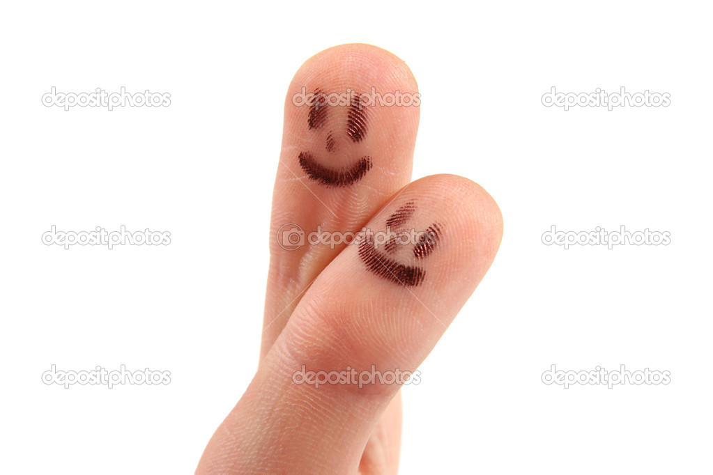 Smiley on fingertips — Stock Photo #4128621