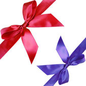 Red and blue ribbons — Stock Photo