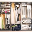 Kitchen utensils drawer — Stock fotografie
