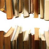 Books in a row — Stock Photo