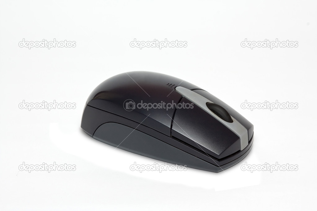 Wireless computer mouse on white background — Stock Photo #4529378